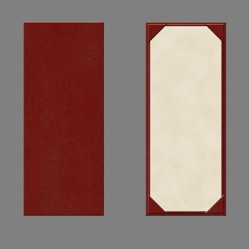 """Turned edge menu covers11"""" x 4.25"""" 