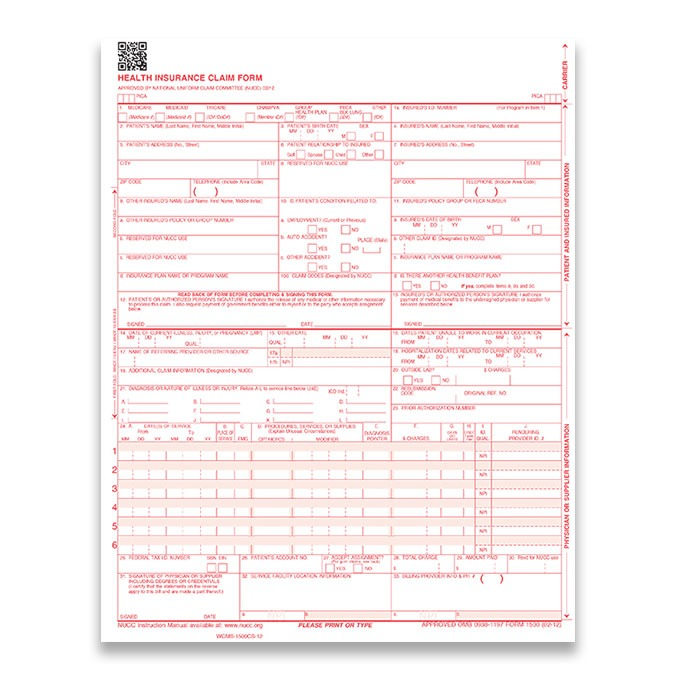 Health Insurance Form 1
