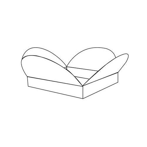 Half Circular Intersecting Fold and Assemble Boxes