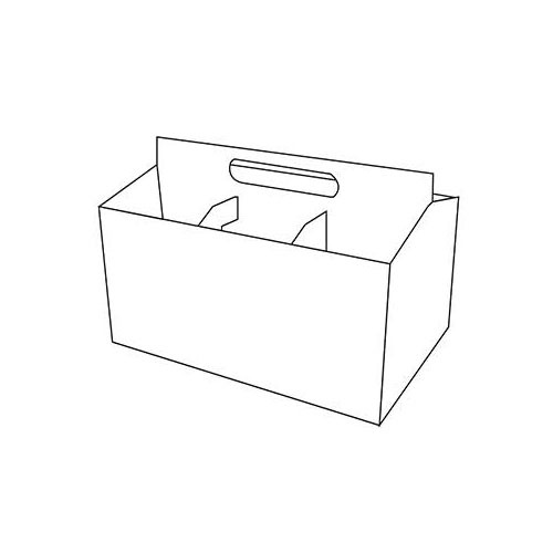 Six Pack Bottle Carrier Bottom Closure Boxes