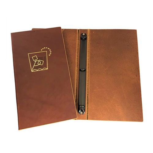 genuine leather menus