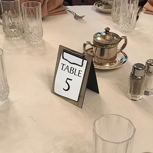 restaurant table stands