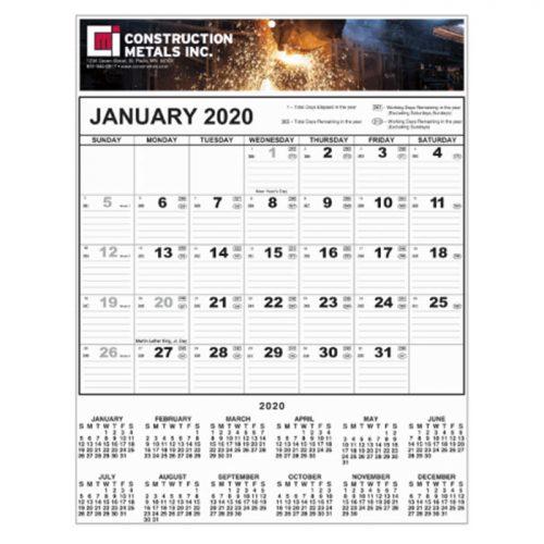 full-color-contractor-wall calendar