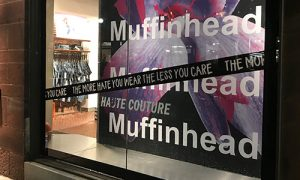 Sign Company for Worcester, Window Graphics for Muffinhead Sign