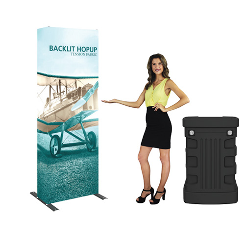 backlit trade show display