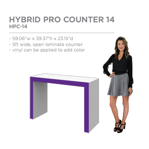 hybrid trade show counter access and accessories
