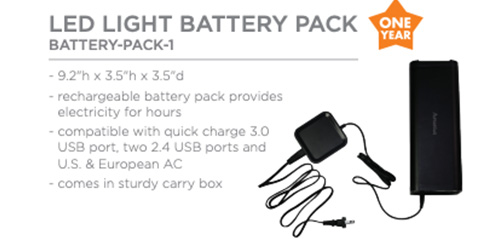 light battery pack accents and accessories