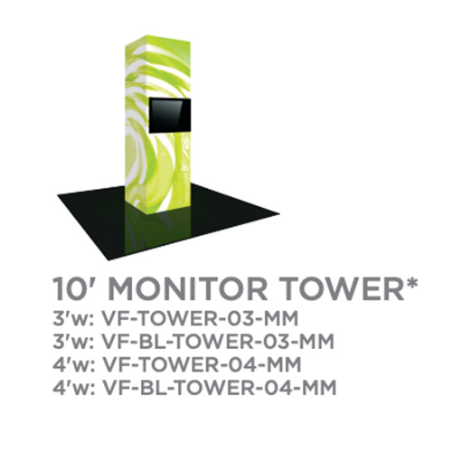 10 Foot Monitor Vector Tower Trade Show Display