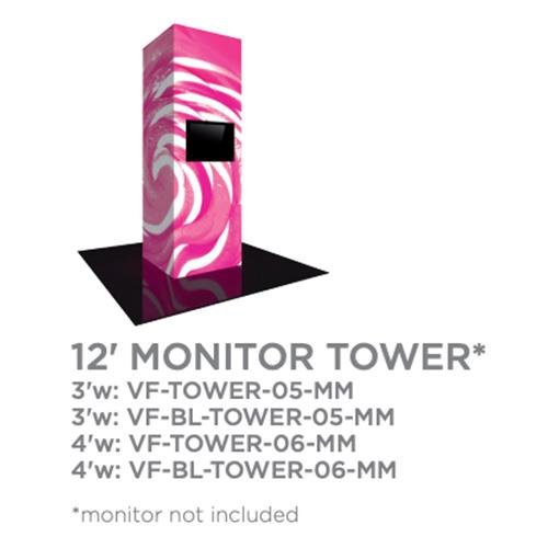12 Foot Monitor Vector Tower Trade Show Display