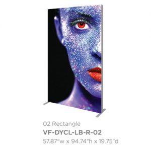 Vector Frame Dynamic Light Box 02 Rectangle