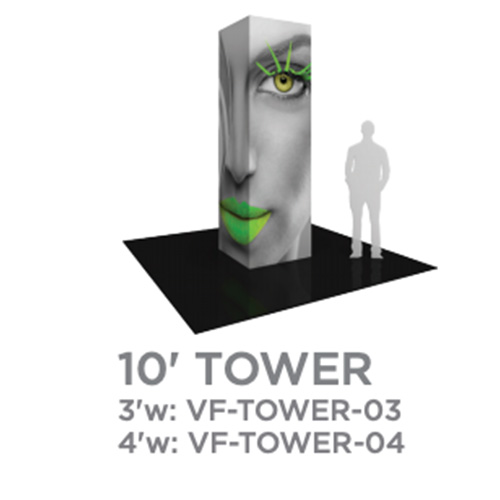 10 Foot Vector Tower Trade Show Display