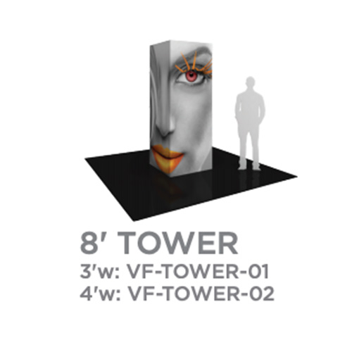 8 Foot Vector Tower Trade Show Display