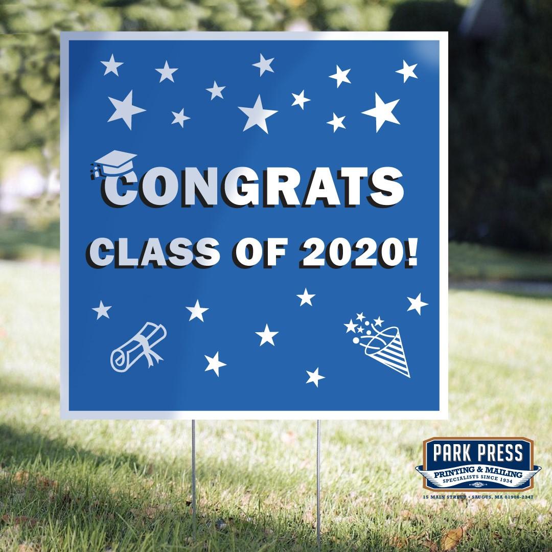 congratulation yard signs for social distancing